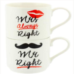 MUG MR AND MRS RIGHT